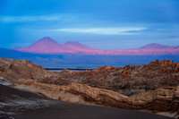 Licancabur Volcano, Valle de la Luna.  The other side of the volcano is Bolivia.